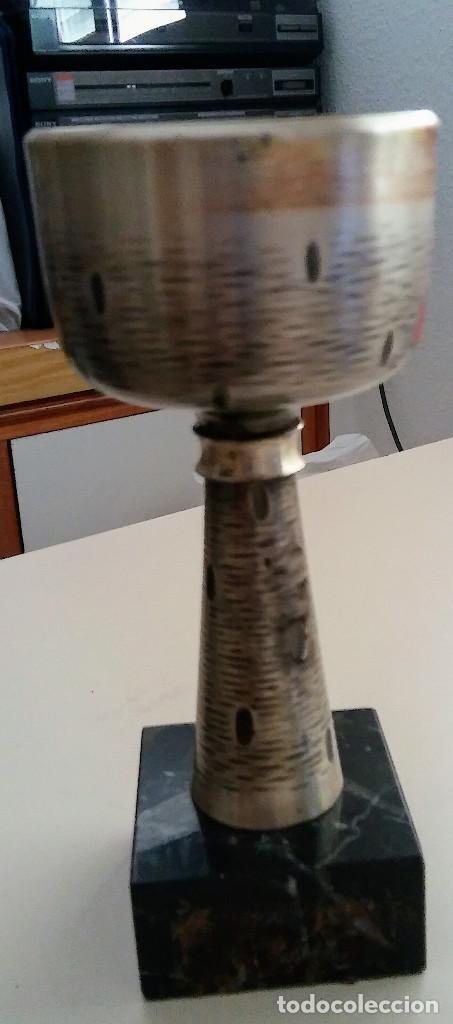 CALIZ CON BASE DE MARMOL (Coleccionismo Deportivo - Medallas, Monedas y Trofeos - Otros deportes)
