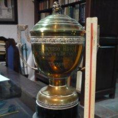 Coleccionismo deportivo: COPA TROFEO HÍPICO DE EDUCACIÓN Y DESCANSO, 1950, 36 CM DE ALTURA. Lote 97421671