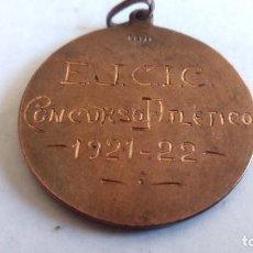 Coleccionismo deportivo: MEDALLA DE BRONCE, E.J.C.I.C. CONCURSO ATLETICO, AÑO 1921-22, MEDIDAS 30 MM. Lote 98851435