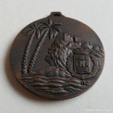 Coleccionismo deportivo: MEDALLA HOCKEY SOBRE PATINES 1980 5.3 CM DIAMETRO 68 GRAMOS. Lote 99186943