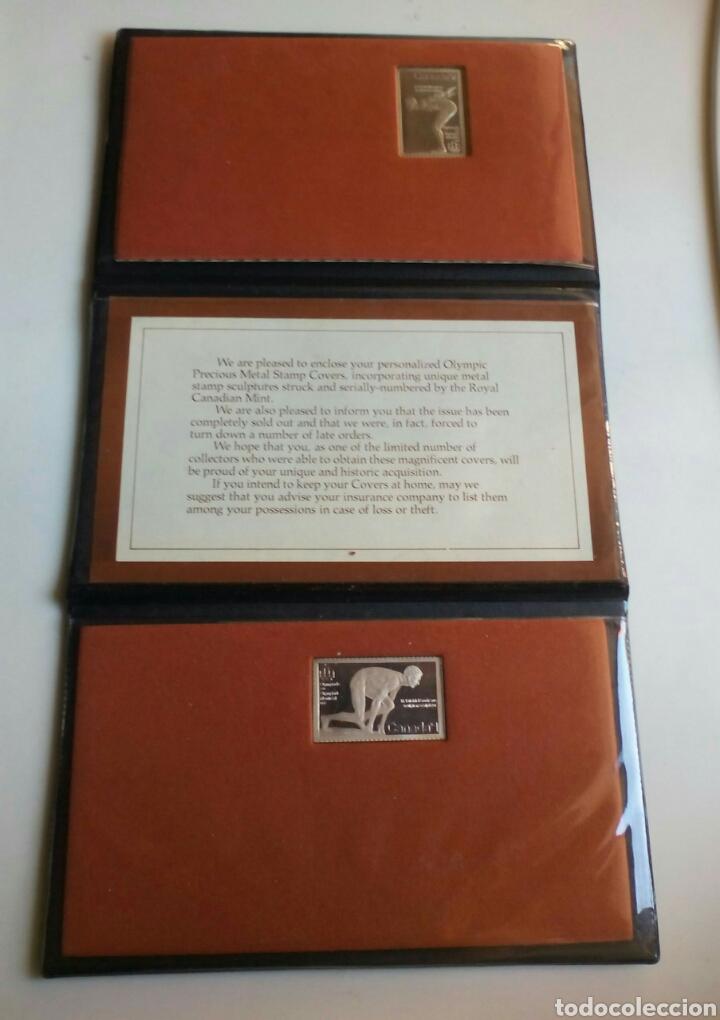 Coleccionismo deportivo: ESTUCHE CON 2 MONEDAS DE PLATA CONMEMORATIVA DE LAS OLIMPIADAS XXI DE MONTREAL 1976. - Foto 2 - 99291559