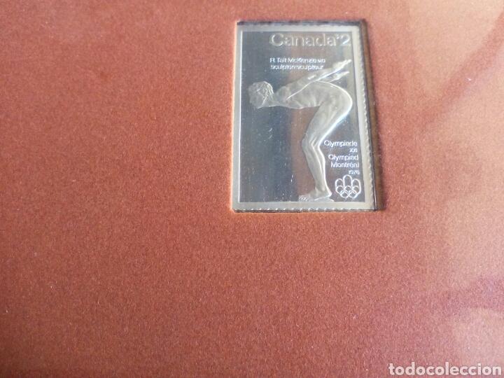 Coleccionismo deportivo: ESTUCHE CON 2 MONEDAS DE PLATA CONMEMORATIVA DE LAS OLIMPIADAS XXI DE MONTREAL 1976. - Foto 3 - 99291559
