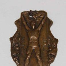Coleccionismo deportivo: MEDALLA PREMI SOLE DE NATACIÓN. BRONCE. BARCELONA. NAVIDAD 1932. Lote 54390142