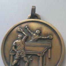 Coleccionismo deportivo: MEDALLA CAMPEON DE SEVILLA BSOLUTO DOBLES 1985 TENIS DE MESA. Lote 104034363
