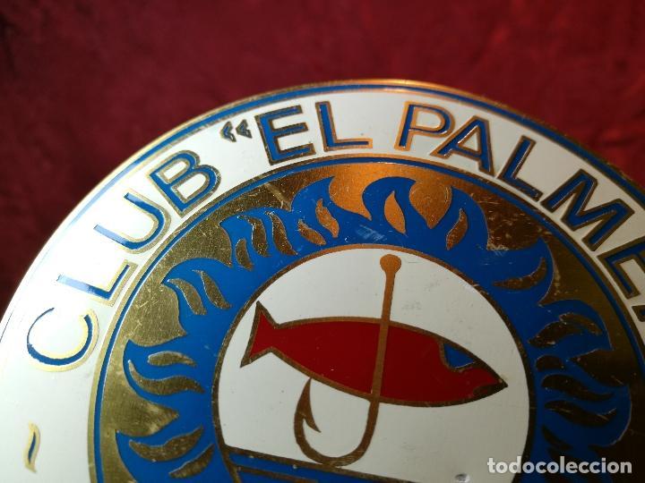 Coleccionismo deportivo: placa bronce grabado y esmaltado club pesca el palmeral--almeria--años 70 - Foto 3 - 105656579