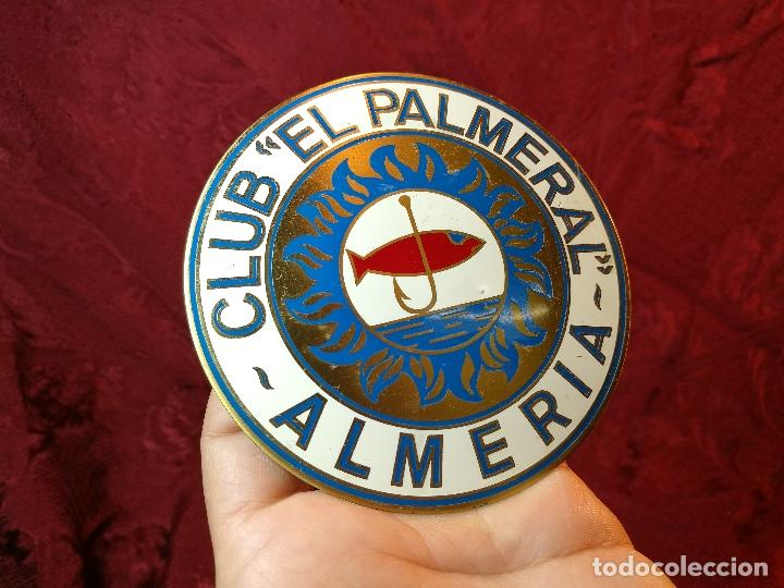 Coleccionismo deportivo: placa bronce grabado y esmaltado club pesca el palmeral--almeria--años 70 - Foto 5 - 105656579