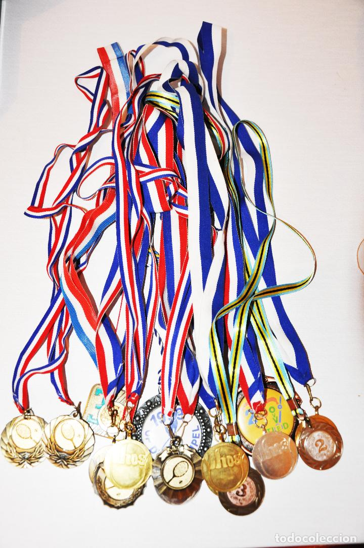 LOTE DE 18 MEDALLAS DEL TENIS .UCRANIA (Coleccionismo Deportivo - Medallas, Monedas y Trofeos - Otros deportes)