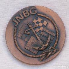 Coleccionismo deportivo: MEDALLA DE LOS PRIMEROS JUEGOS NAUTICOS DE LA BAHIA GADITANA JNBG-CADIZ 1975. COBRE 50 MM.TEMA NÁUTI. Lote 107710507