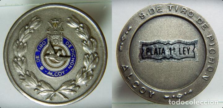 MEDALLA TIRO DE PICHON DE ALCOY PLATA 21,70GR. (Coleccionismo Deportivo - Medallas, Monedas y Trofeos - Otros deportes)