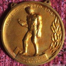 Collezionismo sportivo: FALANGE - SEU MEDALLA II JUEGOS UNIVERSITARIOS NACIONALES - JUN - MADRID 1945 CAMPEÓN CAMPO A TRAVÉS. Lote 112816915