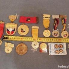 Coleccionismo deportivo: LOTE 15 MEDALLAS, INSIGNIAS,DEPORTE TIRO,CAZA,PESCA,CARACAS,VENEZUELA,AÑOS 60-80 VER DETALLES.. Lote 115533615