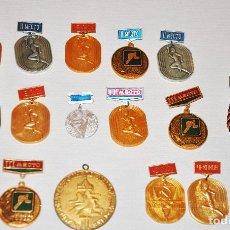 Coleccionismo deportivo: LOTE 15 MEDALLAS SOVIETICAS .URSS . Lote 116112379