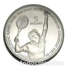 Coleccionismo deportivo: BONITA MONEDA JUEGOS OLIMPICOS DE SEOUL 1988 TENNIS BORIS BECKER CAMPEON EN WIMBLEDON 1985-86. Lote 116585343