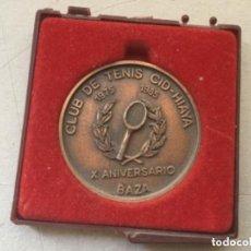 Coleccionismo deportivo: MEDALLA CONMEMORATIVA X ANIVERSARIO CLUB DE TENIS CID-HIAYA DE BAZA EN BRONCE.. Lote 122465279