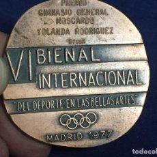 Coleccionismo deportivo: MEDALLA VI BIENAL INTERNACIONAL DEL DEPORTE EN BELLAS ARTES MADRID 1977 DIÁMETRO 57MM. Lote 128803367