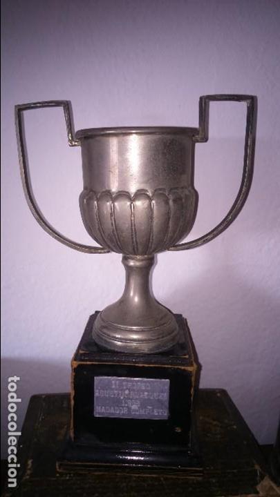 TROFEO COPA 2 TROFEO AGUSTÍN BLAZQUEZ 1988 NADADOR CAMPEÓN. JEREZ (Coleccionismo Deportivo - Medallas, Monedas y Trofeos - Otros deportes)
