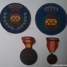 Coleccionismo deportivo: TIRO OLÍMPICO FEDERACIÓN ESPAÑOLA LOTE MEDALLA PARCHE AÑOS '70. Lote 134149694