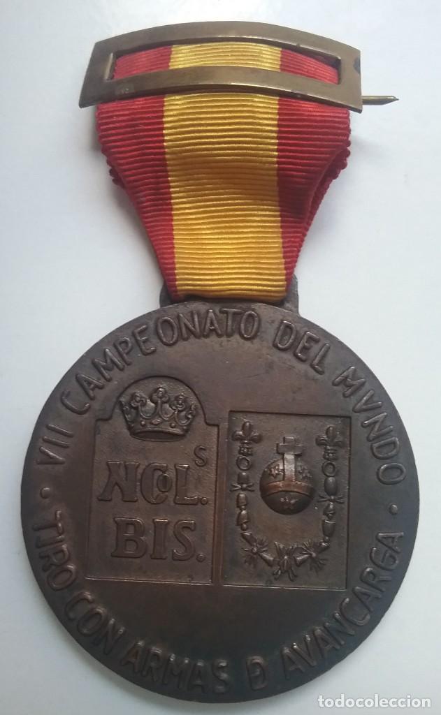 Coleccionismo deportivo: TIRO OLÍMPICO FEDERACIÓN ESPAÑOLA LOTE MEDALLA PARCHE AÑOS '70 - Foto 3 - 134149694