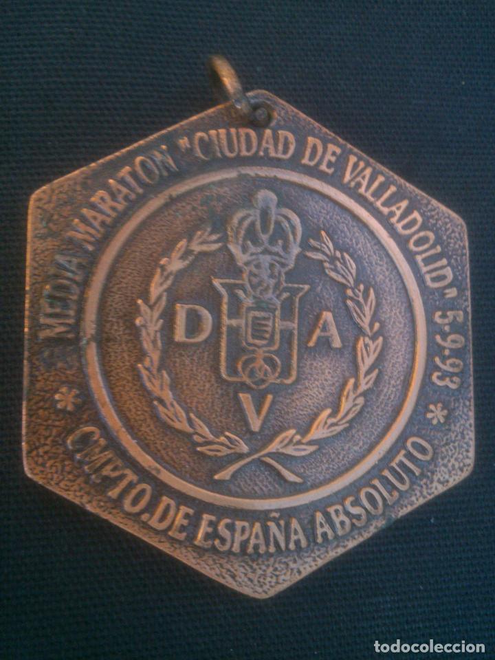 MEDALLA MEDALLÓN DE ATLETISMO. MARATON CIUDAD DE VALLADOLID AÑO 1993 (Coleccionismo Deportivo - Medallas, Monedas y Trofeos - Otros deportes)
