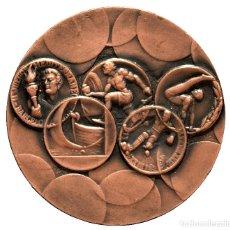 Coleccionismo deportivo: MEDALLA EN BRONCE BARCELONA 1ª EXPOSICION MEDALLA DEPORTIVA ESPAÑOLA 1969 COMITE OLIMPICO ESPAÑOL. Lote 60260003