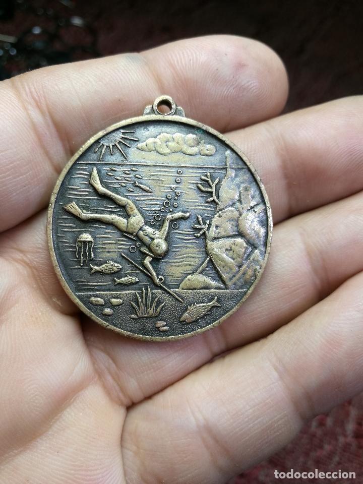 CAMPEONATO MUNDIAL DE PESCA SUBMARINA.ESPAÑA ALMERÍA 1961 CMAS---BUCEO (Coleccionismo Deportivo - Medallas, Monedas y Trofeos - Otros deportes)
