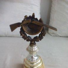 Coleccionismo deportivo: TROFEO DEPORTIVO, DE TIRO AL PLATO. ESCOPETA, CAZA. 21 X 15 X 7,5 CM. Lote 138350198