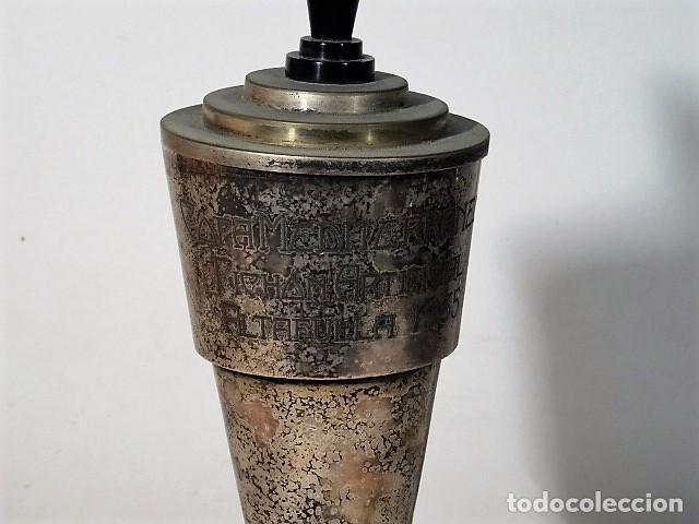 Coleccionismo deportivo: Trofeo de tiro al pichon. Copa Mediterrania tiro al pichon artificcial 1935. - Foto 2 - 140506430