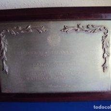 Coleccionismo deportivo: (F-181211)PLACA DE LA FEDERACION CATALANA DE WATERPOLO A ANDRES ZOLLYOMY ENTRENADOR SELEC.WATERPOLO. Lote 142858474