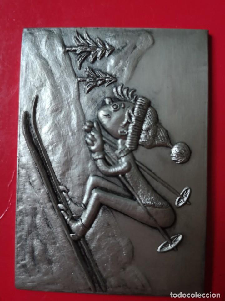 CAMPEONATO DE ESPAÑA INFANTIL DE ESQUÍ 1972 (Coleccionismo Deportivo - Medallas, Monedas y Trofeos - Otros deportes)