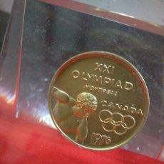 Coleccionismo deportivo: PISAPAPELES CON MEDALLA XXI OLYMPIAD MONTREAL 1976. Lote 144139885