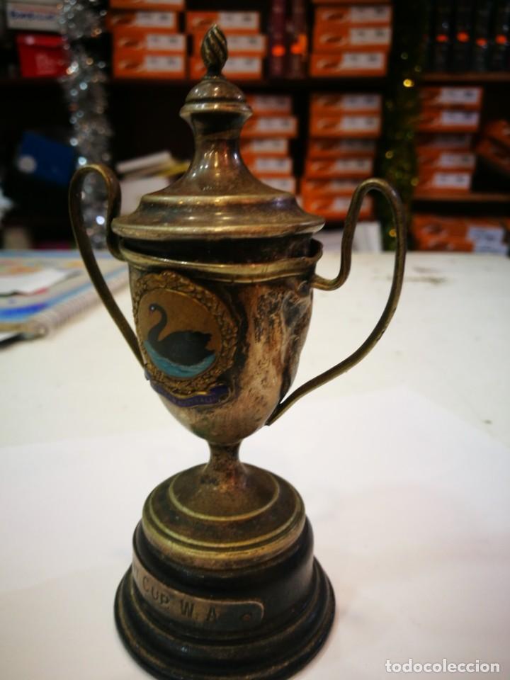 Coleccionismo deportivo: Trofeo The Bel Mont Cup W.A. 1913 Western Australia leer descripción - Foto 4 - 144615082