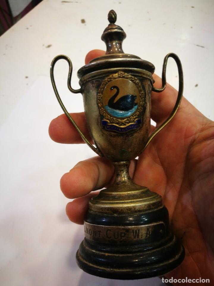 Coleccionismo deportivo: Trofeo The Bel Mont Cup W.A. 1913 Western Australia leer descripción - Foto 14 - 144615082