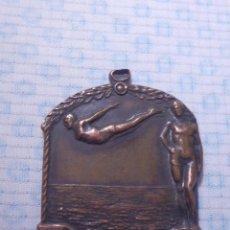 Coleccionismo deportivo: BONITA Y ANTIGUA MEDALLA DE COBRE DE CLUB NATACIÓN - AÑO 1933 - C. N TARRAGONA CAMP CATALANS. Lote 144669990