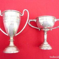 Coleccionismo deportivo: TROFEO DE ALPACA. PAREJA: 1 DE 1955 Y OTRO DE 1959. Lote 144795818