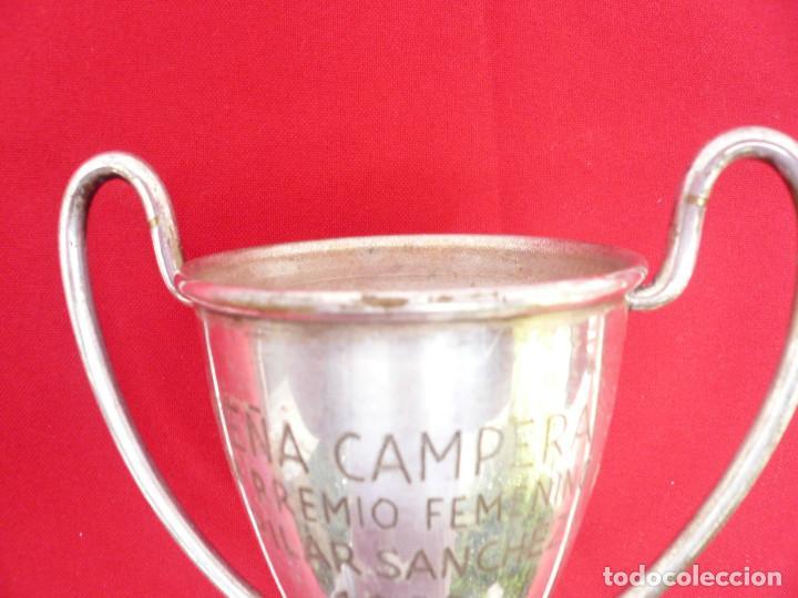 Coleccionismo deportivo: TROFEO DE ALPACA. PAREJA: 1 DE 1955 Y OTRO DE 1959 - Foto 6 - 144795818