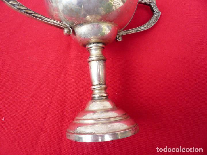 Coleccionismo deportivo: TROFEO DE ALPACA. PAREJA: 1 DE 1955 Y OTRO DE 1959 - Foto 10 - 144795818