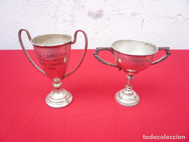 Coleccionismo deportivo: TROFEO DE ALPACA. PAREJA: 1 DE 1955 Y OTRO DE 1959 - Foto 12 - 144795818