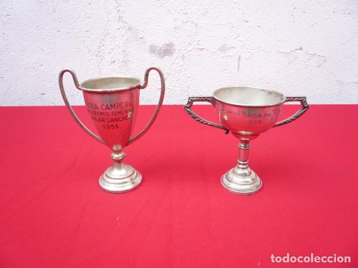 Coleccionismo deportivo: TROFEO DE ALPACA. PAREJA: 1 DE 1955 Y OTRO DE 1959 - Foto 14 - 144795818