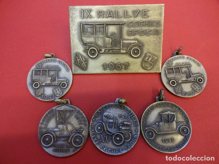 RALLYE COCHES DE EPOCA. BARCELONA-SITGES. LOTE DE MEDALLAS CONMEMORATIVAS (Coleccionismo Deportivo - Medallas, Monedas y Trofeos - Otros deportes)