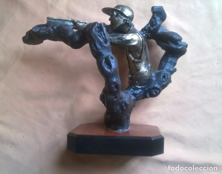 Coleccionismo deportivo: TROFEO DE TIRO AL PLATO. - Foto 5 - 146778058