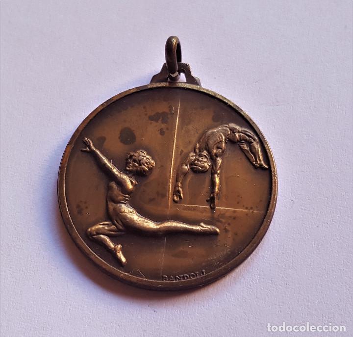 MEDALLA DE BRONCE GIMNASIA - 32.MM DIAMETRO (Coleccionismo Deportivo - Medallas, Monedas y Trofeos - Otros deportes)
