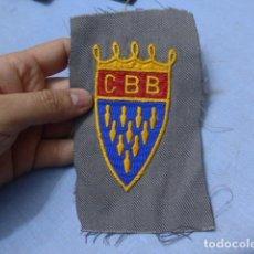 Coleccionismo deportivo: * ANTIGUO PARCHE BORDADO DEL CLUB BOLOS DE BARCELONA, ORIGINAL. ZX. Lote 151407218