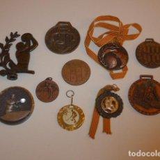 Coleccionismo deportivo: LOTE DE 10 ANTIGUA MEDALLA CATALANA DE TODO TIPO DE DEPORTE, VARIEDAD DE MEDALLAS.. Lote 151626970