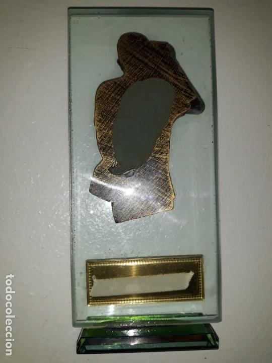 Coleccionismo deportivo: COPA TROFEO DE DARDOS MEJOR JUGADOR 1ª DIVISIÓN CALP CALPE DART LEAGUE 2012-13. CRISTAL BUSTO 18 CM - Foto 3 - 152508550