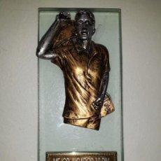 Coleccionismo deportivo: COPA TROFEO DE DARDOS MEJOR JUGADOR 1ª DIVISIÓN CALP CALPE DART LEAGUE 2012-13. CRISTAL BUSTO 18 CM. Lote 152508550