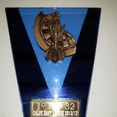Coleccionismo deportivo: COPA TROFEO DE DARDOS 2º TOP 32 CALP CALPE DART LEAGUE 2012-13. CRISTAL DIANA DARDOS 16 CM ALTO X 12. Lote 152510286