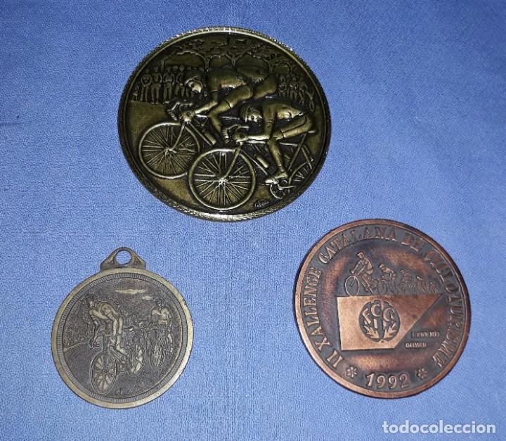 3 MEDALLAS DE CICLISMO CEBRIAN UNA DE AMPOSTA VER FOTOS Y DESCRIPCION (Coleccionismo Deportivo - Medallas, Monedas y Trofeos - Otros deportes)