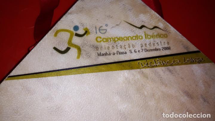Coleccionismo deportivo: Dos trofeos del 16º Campeonato Iberico Orientacion celebrado Diciembre 2008 en Portugal - Foto 2 - 155982978
