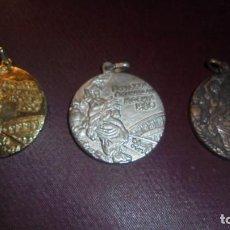 Coleccionismo deportivo: OLIMPISMO 3 MEDALLAS OLIMPIADA DE MOSCU 1980 - 4 CM. . Lote 157017722