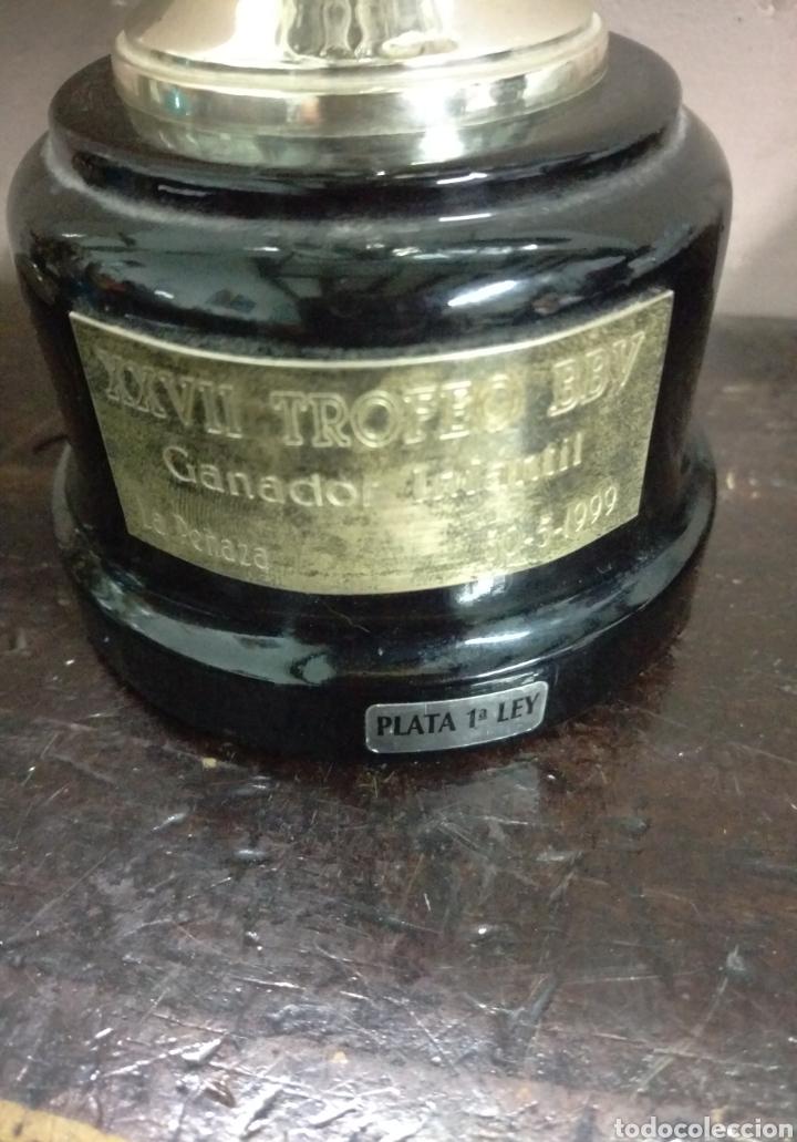 Coleccionismo deportivo: COPA DE PLATA - XXVII TROFEO BBV GANADOR INFANTIL LA PEÑAZA 1999 - Foto 4 - 157072050